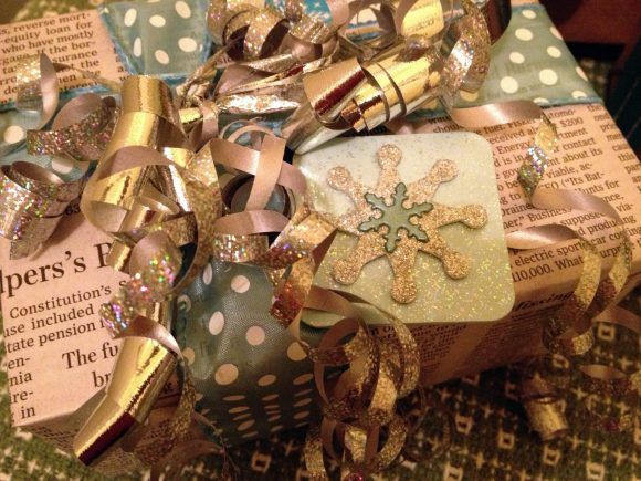 Gift with handmade ornament embellishment