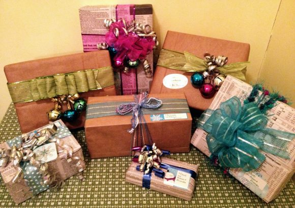 Budget Gift Wrapping with Recycled Materials