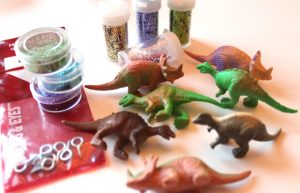 glitter dinosaur ornaments supplies glitter hooks dinos