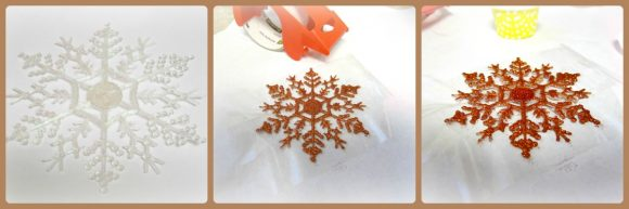 Tutorial: Icy Snowflake Coasters (via dollarstorecrafts.com)