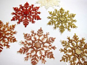 iced snowflake coaster set