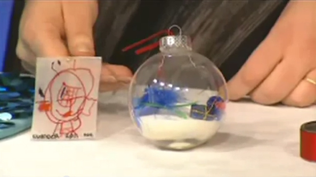 Shrinky Dink ornament and I-Spy ornament