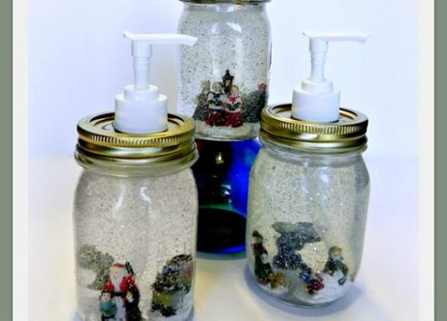 mason jar soap dispenser snow globes