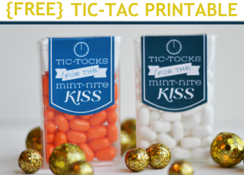 Make New Year's Eve Tic Tac party favors