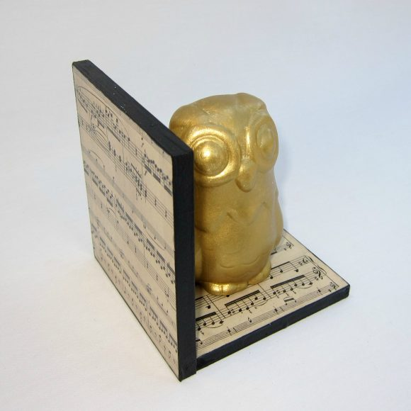 DIY Gilded Owl Bookend