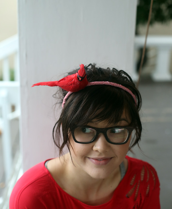 red-bird-headband