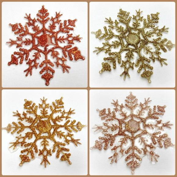 Tutorial: Icy Snowflake Coasters (via dollarstorecrafts.com)