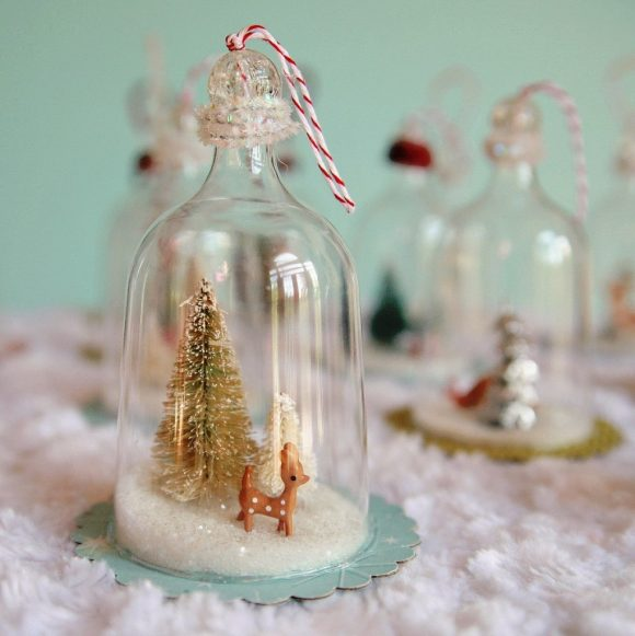 vintage inspired bell jar ornaments