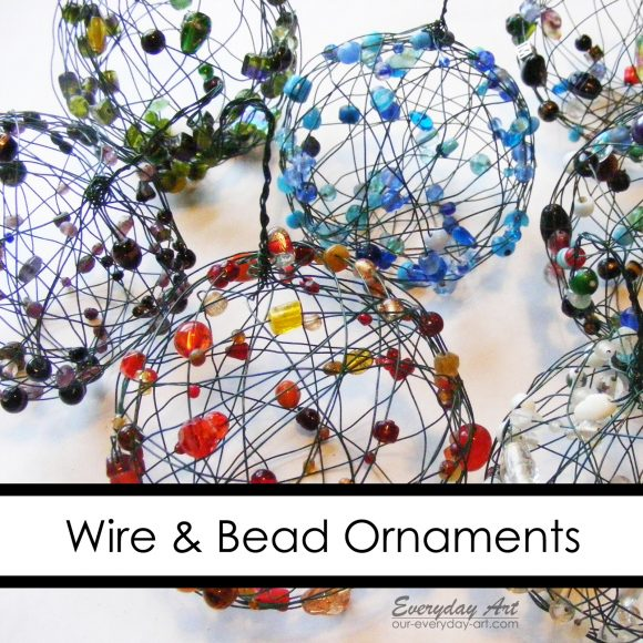 Make wire and bead ornaments (via dollarstorecrafts.com)