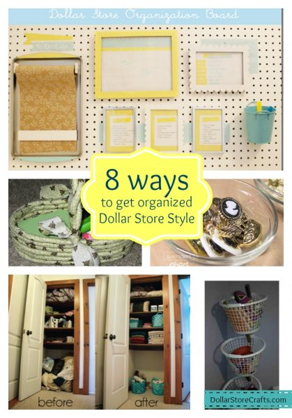 8 Ways to get organized with dollar store stuff! DollarStoreCrafts.com