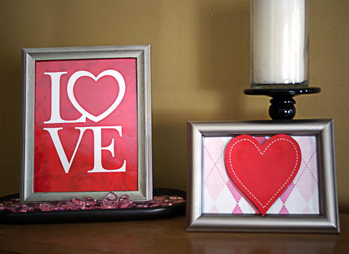 Wall Colour Inspiration: Make Framed Valentine's Day Art From Gift Bags » Dollar