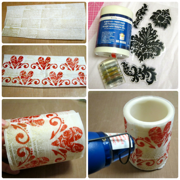 Stamped Candle Tutorial