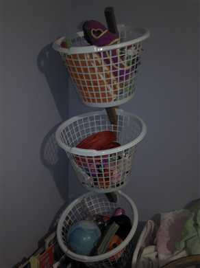 DIY Basket Tree