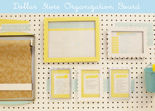picture frame and cookie sheet command center