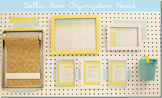 Dollar Store Organization Board