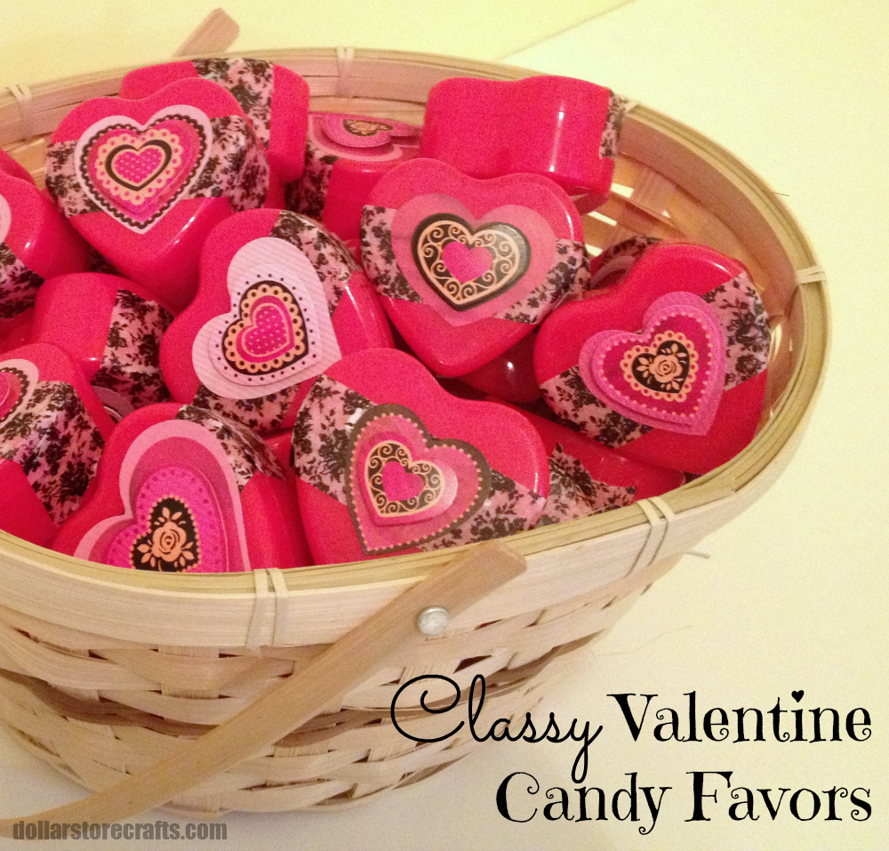 Classroom Decor Items ~ Tutorial classy valentine candy favors dollar store crafts