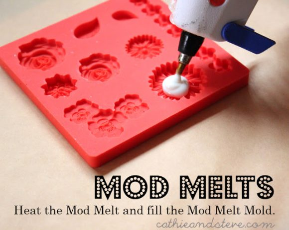heat the mod melt and fill the mold mod podge
