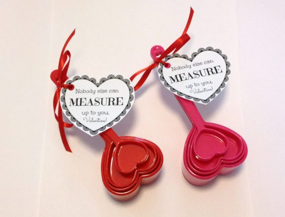 Free Printable: Valentine's Day Measuring Cup Gift Tags