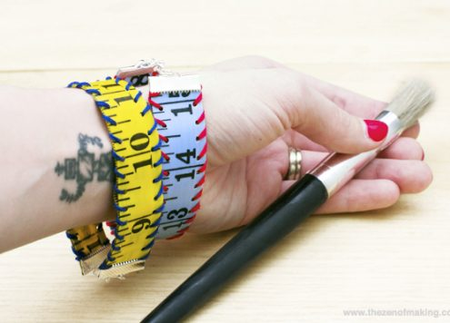 measuring tape bracelet craft tutorial