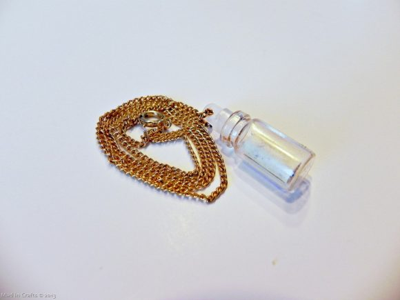 Make a message in abottle necklace (via dollarstorecrafts.com)