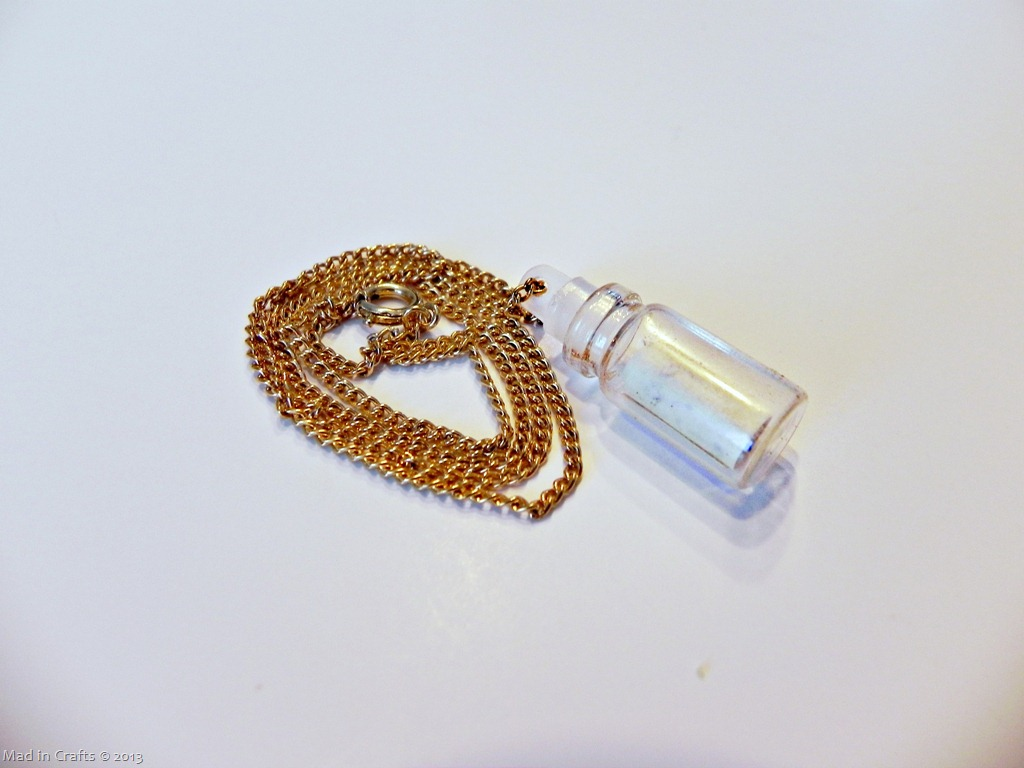 Make a Message in a Bottle Necklace
