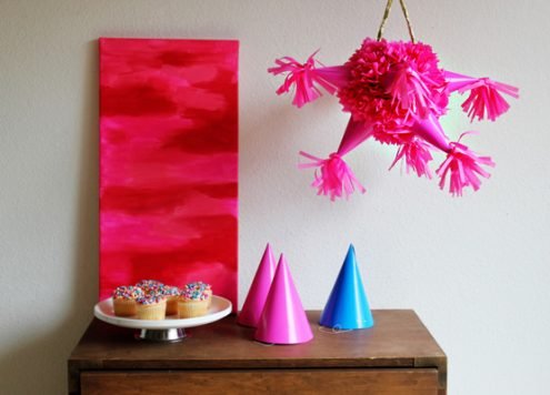Make a party hat pinata (via dollarstorecrafts.com)