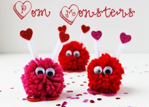 valentine pom monsters