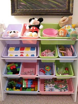 Toy organization for toddlers