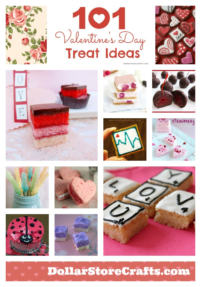 101 Valentine's Day Treat Ideas - from sweet to savory to crafts and gifts to make