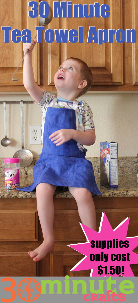 30 Minute Tea Towel Apron