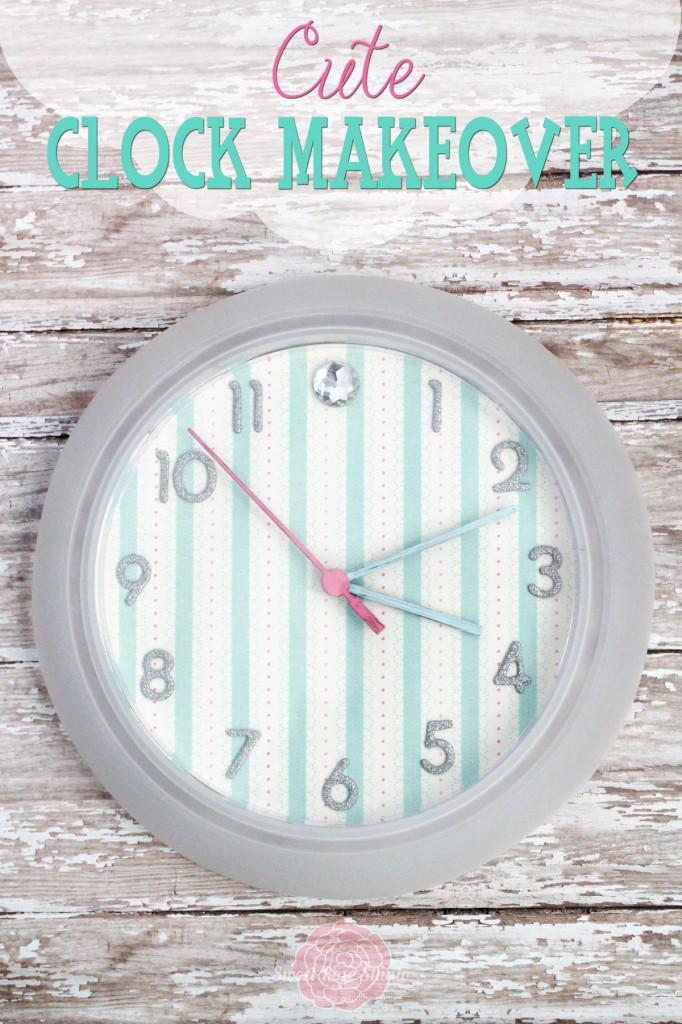 Make A Cute Clock With Scrapbook Paper Dollar Store Crafts