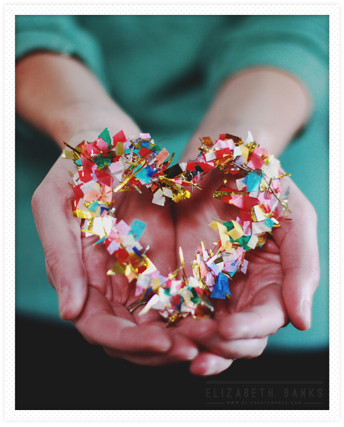 Easy Craft Hot Glue Confetti Hearts Dollar Store Crafts
