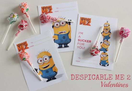 Despicable Me Valentines at Make & Takes