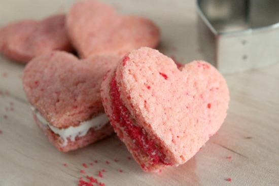 Valentine Heart Cookie Sandwich