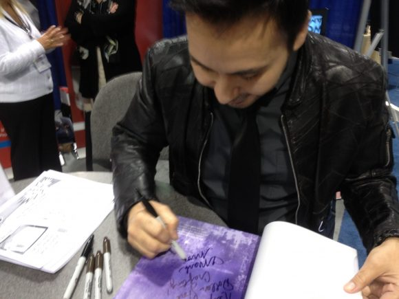 Mark Montano autographing