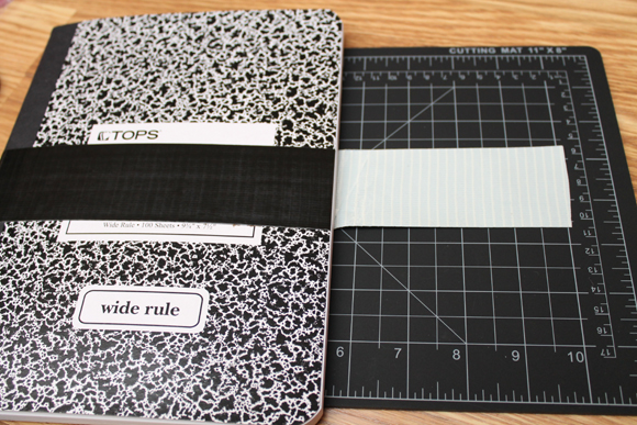 tutorial duct tape composition notebook