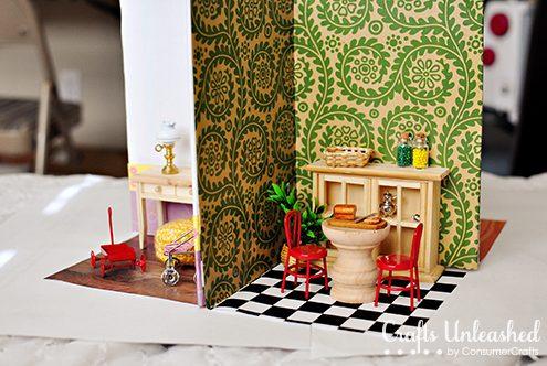 Make a portable dollhouse