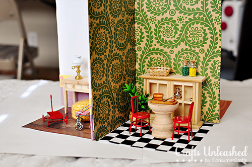 Make a portable dollhouse