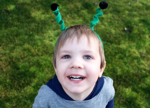 dollar store boy craft antenna headband