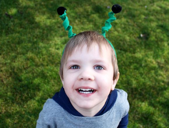 dollar store boy craft antenna headband
