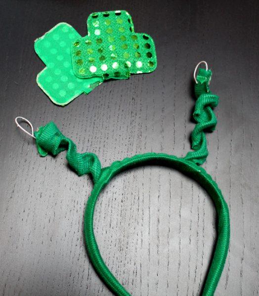 dissasemble st patrick's day shamrock headband