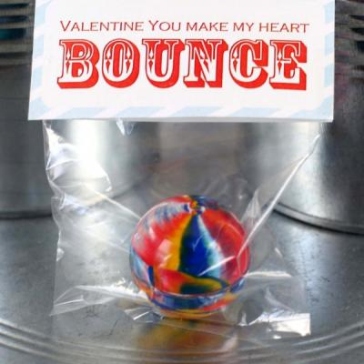 Bouncy Ball Valentine Bag Topper