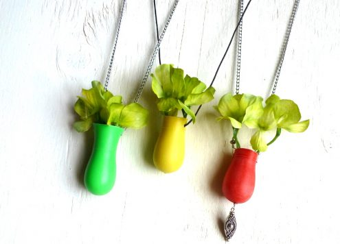 Turn a Toy Bowling Pin into a Vase Necklace