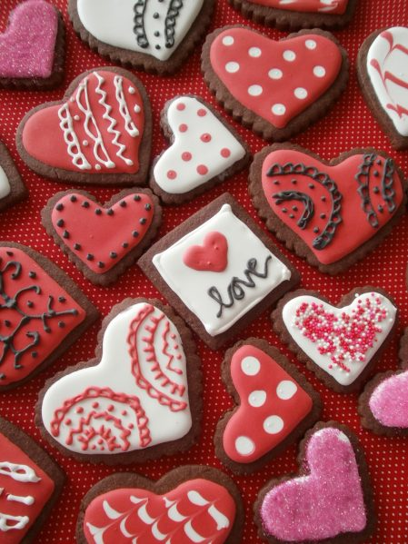 Valentine Brownie Cutout Cookies