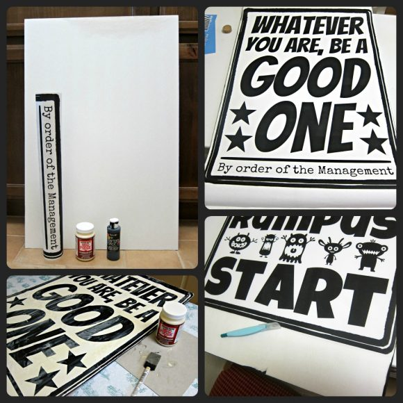 diy poster wall art tutorial