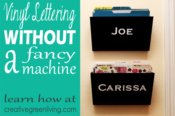 Make Vinyl Letters without a Fancy Machine » Dollar Store Crafts
