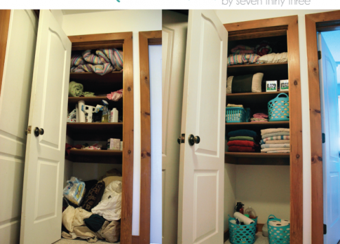 Organize Your Linen Closet, Dollar Store Style