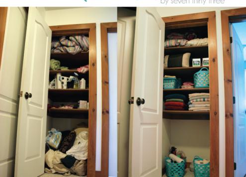 Organize Your Linen Closet, Dollar Store Style