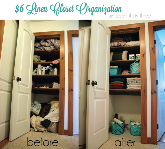 Organizing With Dollar Store Items: Organize Your Linen Closet, Dollar Store Style » Dollar