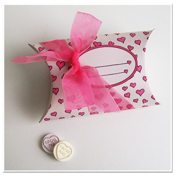 Printable Valentine's Day Pillow Box
